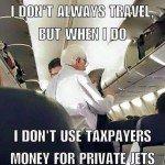 Bernie Sanders Airplane Pic