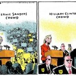Bernie Sanders Crowd Vs Hillary Clinton Crowd – Comic