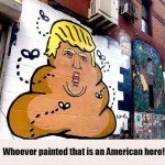 Donald Trump Poop Graffiti