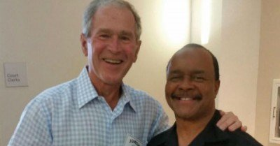 Former President George W Bush had jury duty