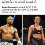 Ronda Rousey Vs Mayweather