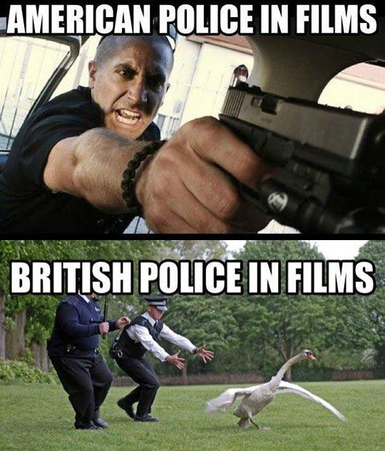 american vs british police