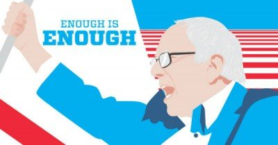 Bernie Sanders Enough is Enough poster