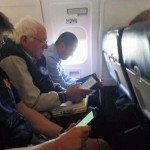 Bernie Sanders Flying Coach
