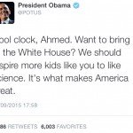 Cool Clock Ahmed – Obama Tweet