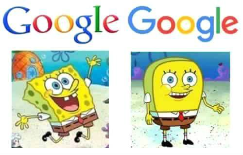 google new logo spongebob