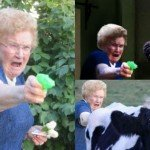 Grandma With A Gun Photoshop Battle – 15 Pics
