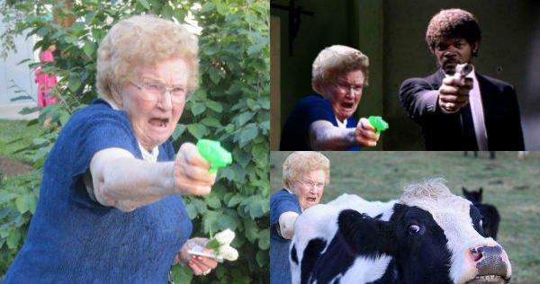 grandma with a gun photoshop battle