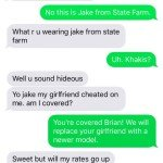 Jake From State Farm Wrong Number Text