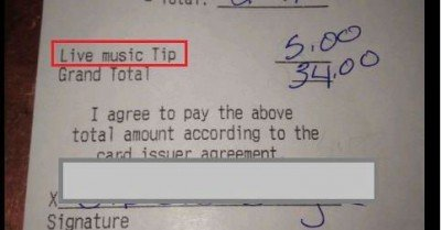 Live music tip receipt – what do you think?