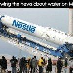 Nestle Mars Water Meme