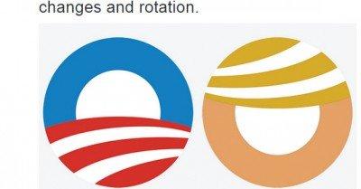 Obama Trump logo