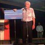 Sweaty Bernie Sanders