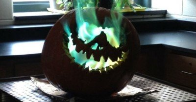 Chemistry class + Jack O lantern pumpkin