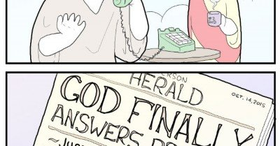 God finally answers prayers – comic via extrafabulouscomics
