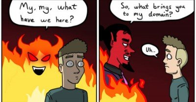 Going to hell – comic