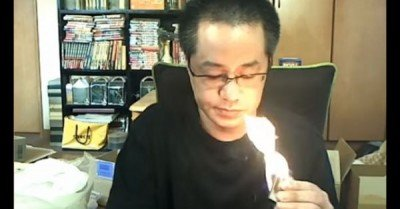 Japanese live streamer accidentally burns down his apartment – video