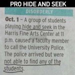 Pro Hide And Seek – A Group Of Students Playing Hide And Seek…