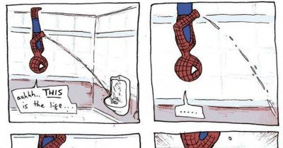 Restroom Spiderman – comic