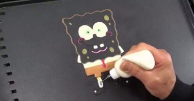 Spongebob pancake – gif
