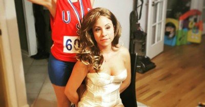 Twins go as Bruce and Caitlyn Jenner for their Halloween Costume