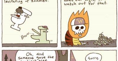 Welcome to Wizard School – comic via piecomic