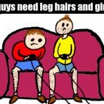 Why Guys Need Leg Hair And Girls Don't – Comic