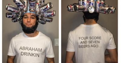 Abraham Drinkin' Halloween Costume