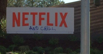 Netflix and Chill headquarters graffiti