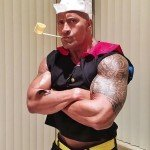 The Rock Popeye Halloween Costume