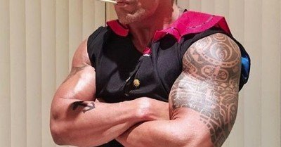 The Rock Popeye Halloween Costume!