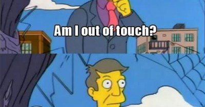 Am I out of touch Skinner Meme