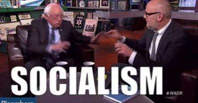 Bernie Sanders socialism scare gif