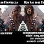 How We See Chewbacca Vs How Han Sees Chewbacca
