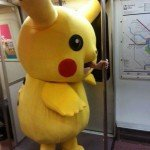 Pikachu Rides The Subway