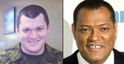 The white Lawrence Fishburne