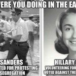Bernie Vs Hillary Civil Rights Meme