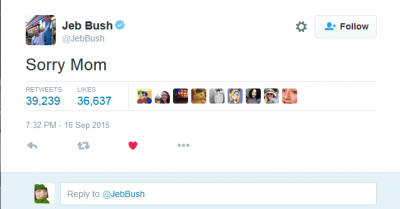 Jeb Bush sorry Mom tweet
