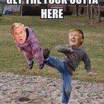 Trump Kicking Jeb Meme