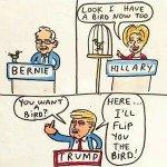 Bernie Birdie Sanders Bird Comic