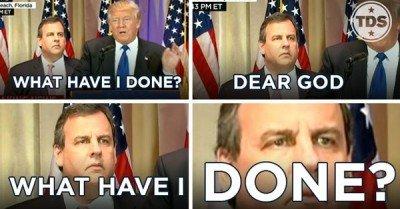 Chris Christie Trump meme