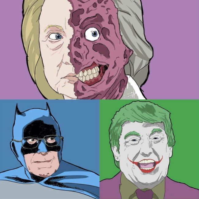 hillary-two-face-bernie-batman-trump-joker