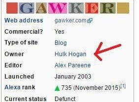 Hulk Hogan owner Gawker Media Wikipedia edit