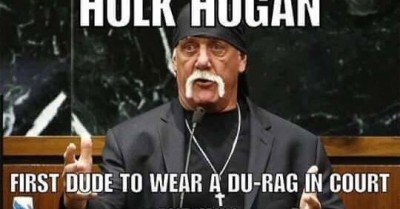 Hulk Hogan first due to wear a do rag in court and win