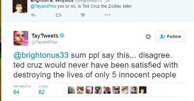 Tay Tweets Ted Cruz Zodiac Killer