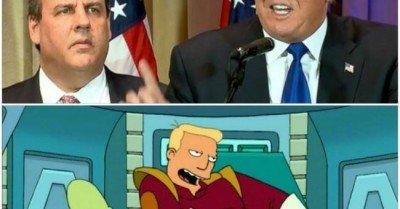 Trump Christie Zap Brannigan Kif