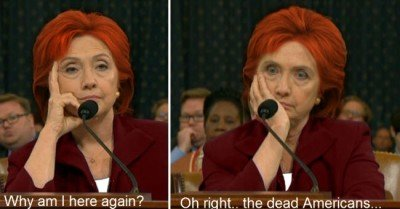 Why am I here again? Oh right the dead Americans Hillary Meme