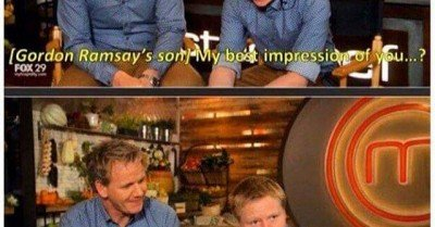 Gordon Ramsay son can I swear?