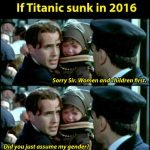 If The Titanic Sunk In 2016