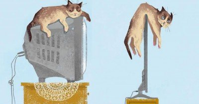 How tech has changed cats lives –  Then vs Meow